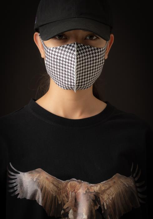 Konus Anti Bacterial Houndstooth Plaid 3D Mask