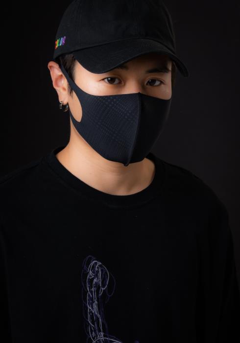 Konus Anti Bacterial Gradient Plaid 3D Mask