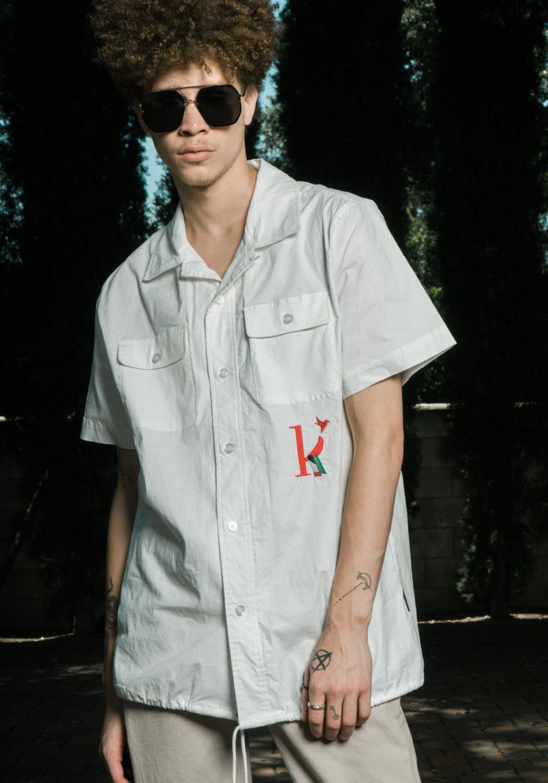 Konus Mens Revere Collar Shirt with K Embroidery