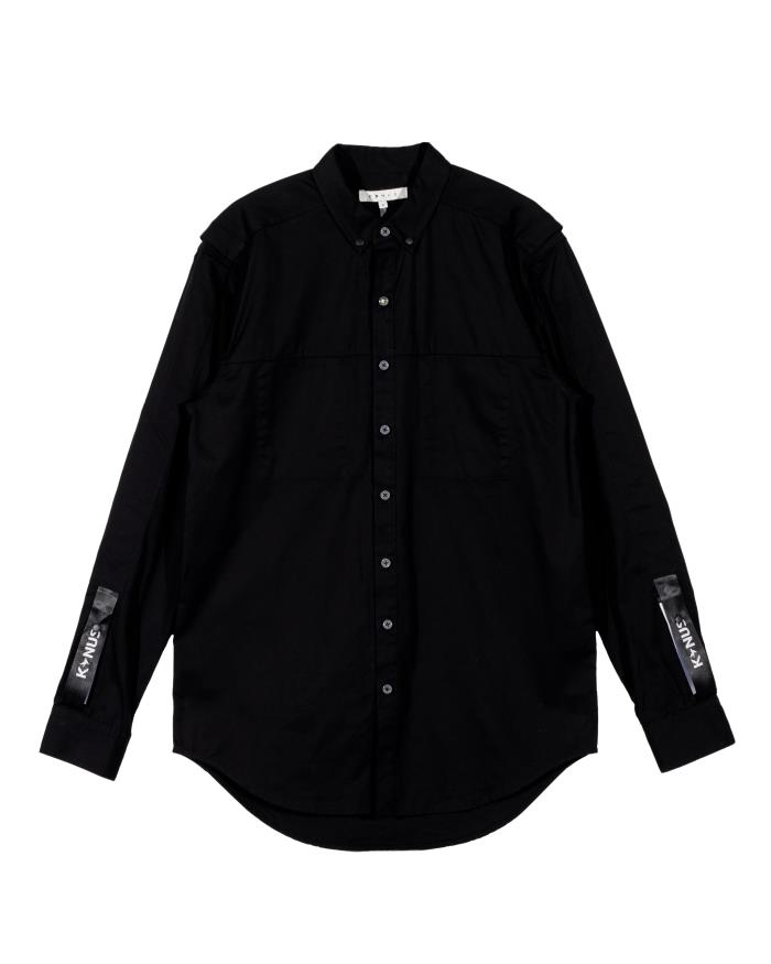 Konus Mens Long Sleeve Twill Button Up Shirt with Sleeve Tape