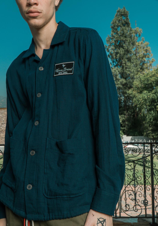 Konus Mens Revere Collar Shirt with Drawcord