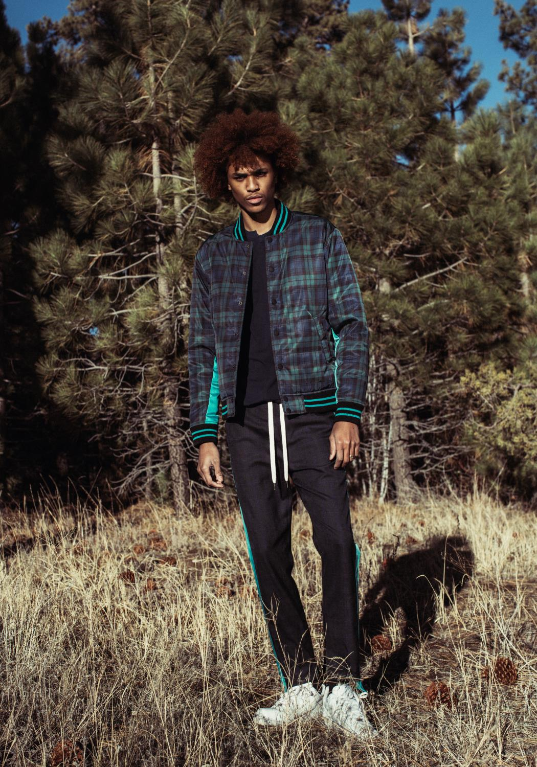 Konus Plaid Track Pants with Inseam Zippers
