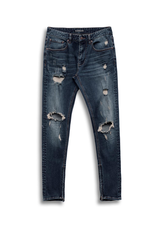 Konus Distressed S2 Zipper Jeans