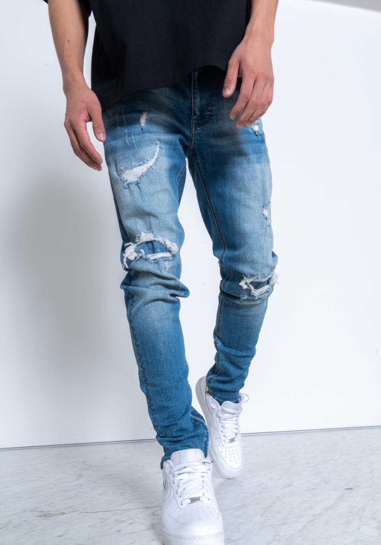Konus Rip and Repaired S2 Zipper Jeans