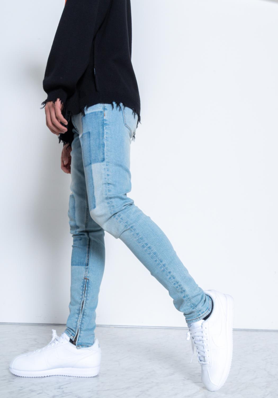 Konus Shadow Patch S2 Zipper Jeans