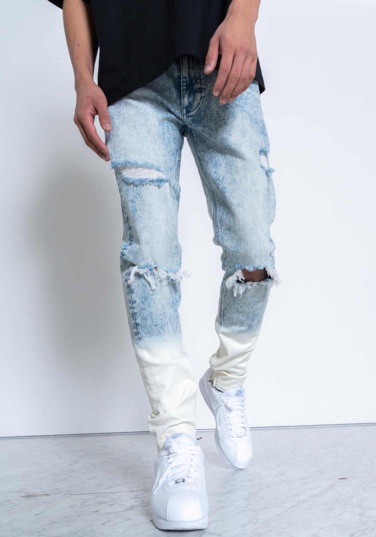 Konus Acid Wash Denim Pants / Hunt