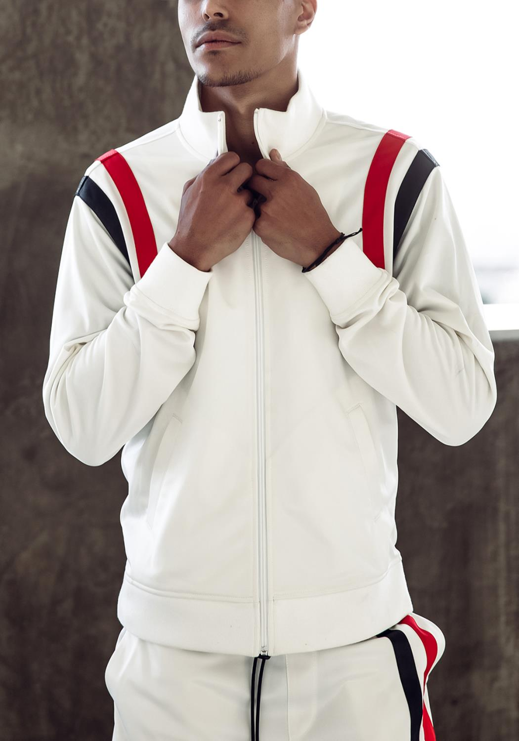Blank State Mens Track Jacket - Off White