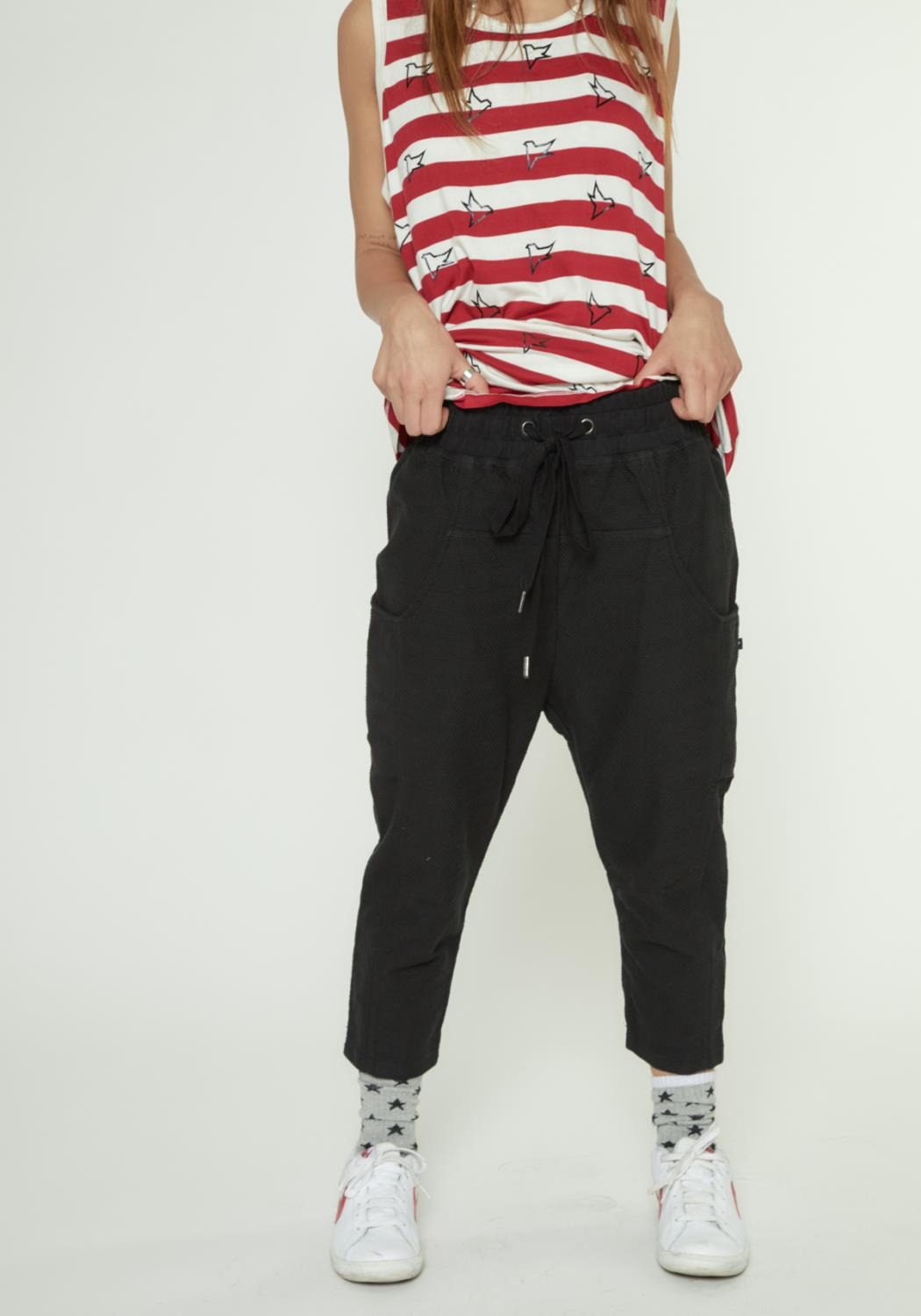 MENS CROPPED PANTS WITH SIDE PANELS