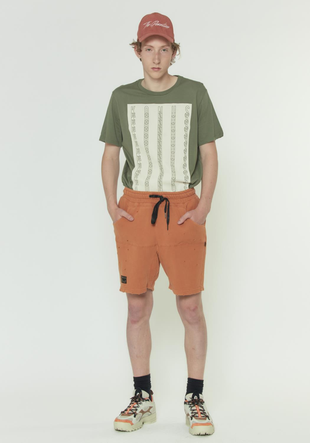 GARMENT DYED FRENCH TERRY SHORTS