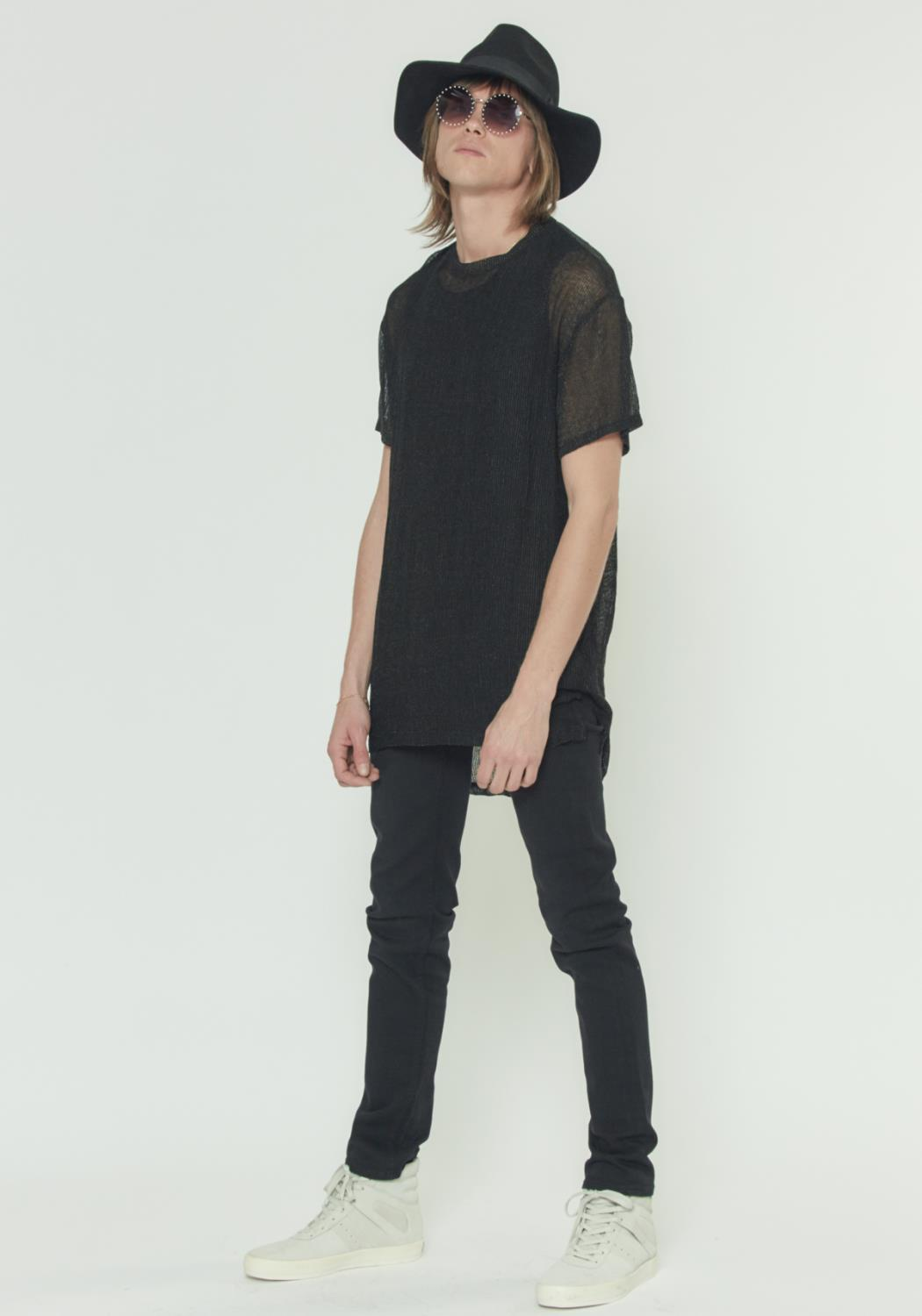 SHEER ELONGATED TEE