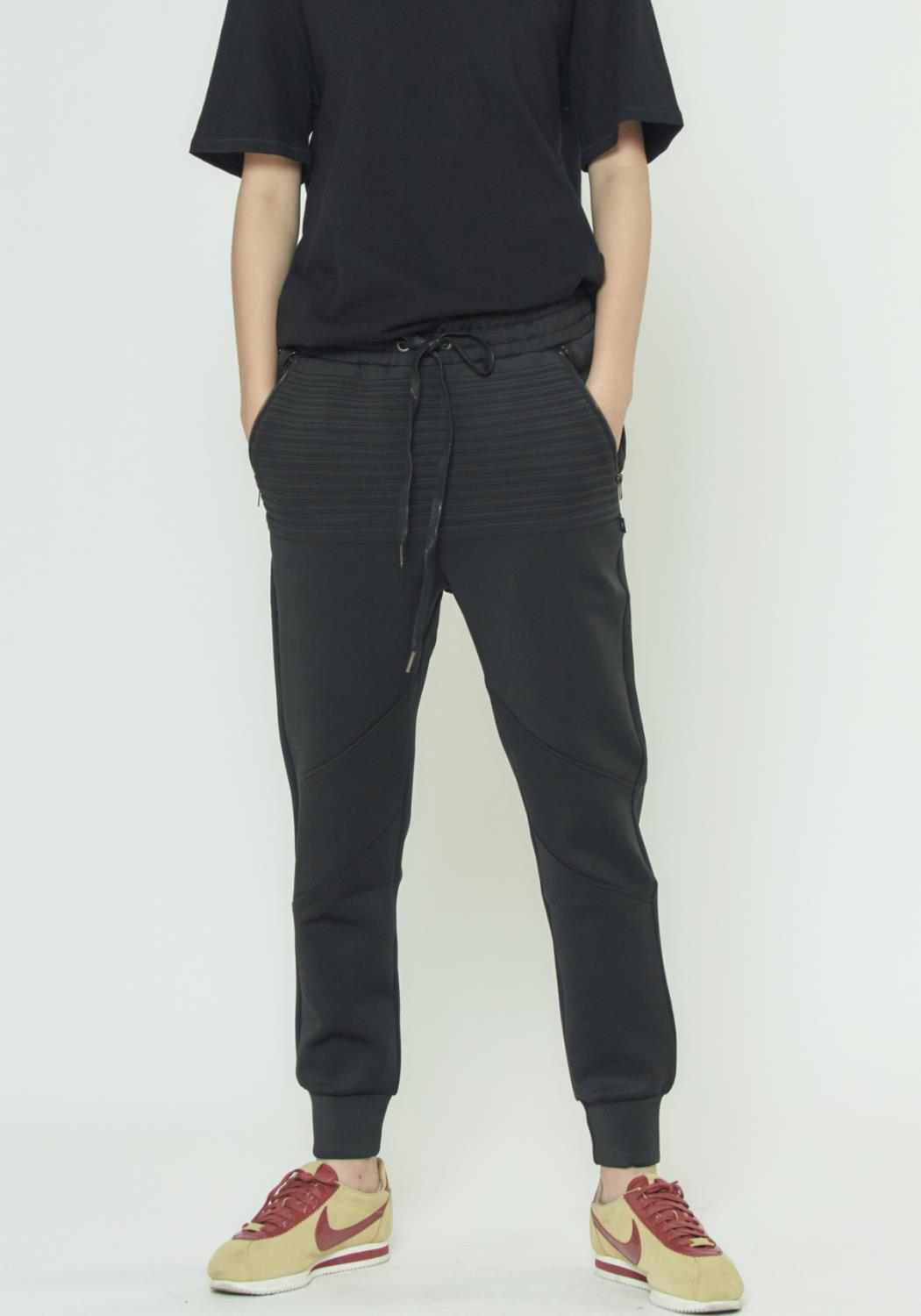 MENS TRACK PANTS WITH PIN TUCK DETAILS