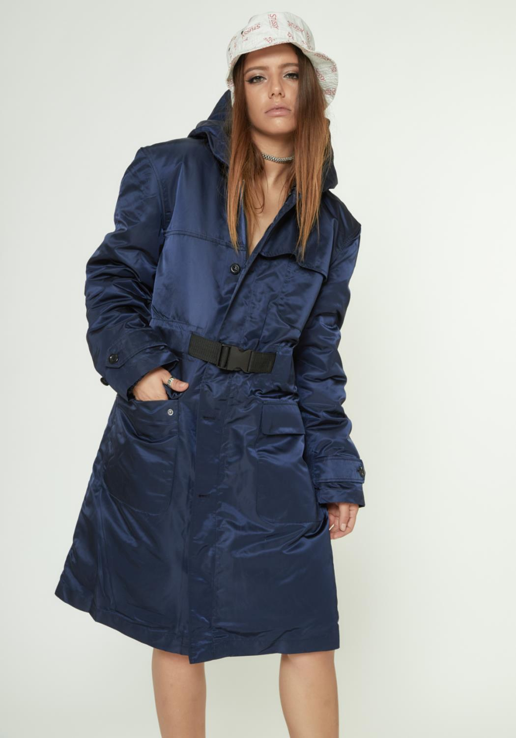 MENS HOODED PARKA WITH DETACHABLE LINER