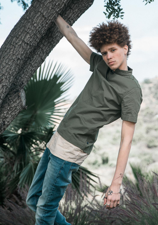 Konus Mens Band Collar Full Zip Shirt