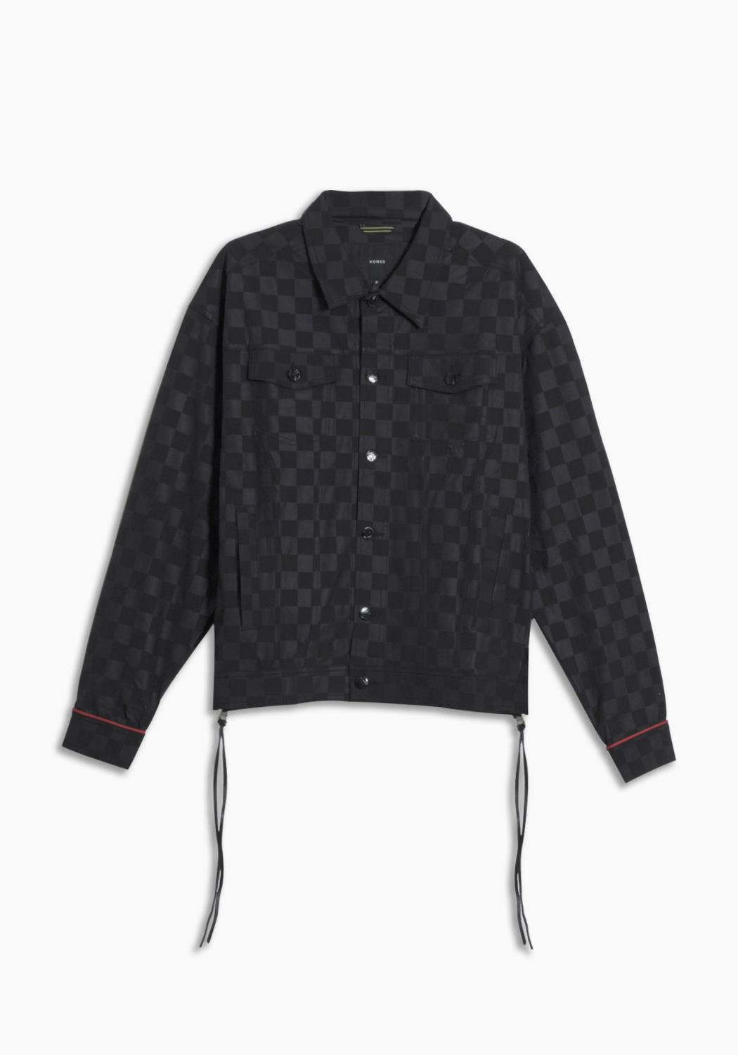 Konus Mens Checkered Trucker Jacket / Hamilton