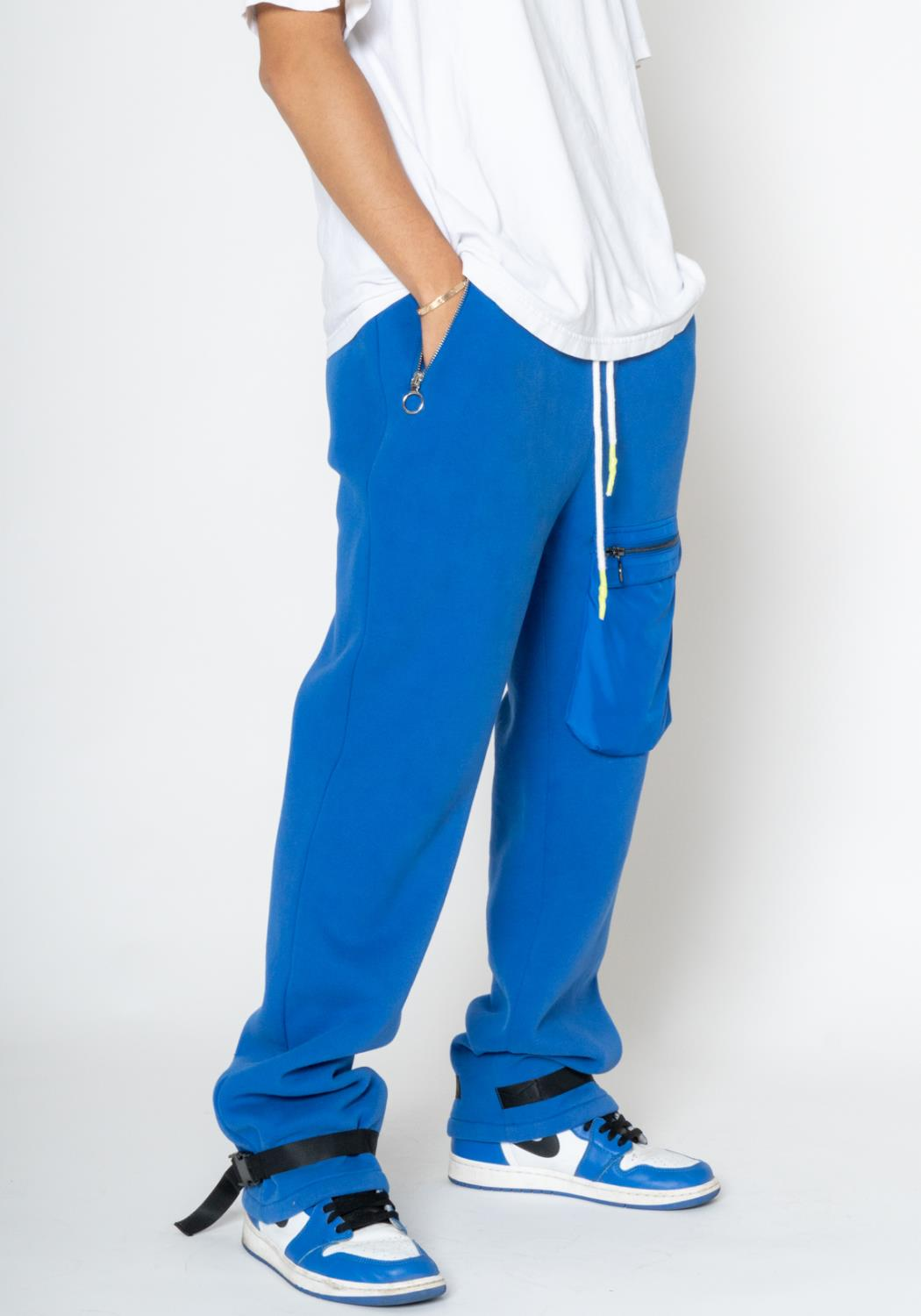 Konus Sweatpants with Nylon Cargo Pocket