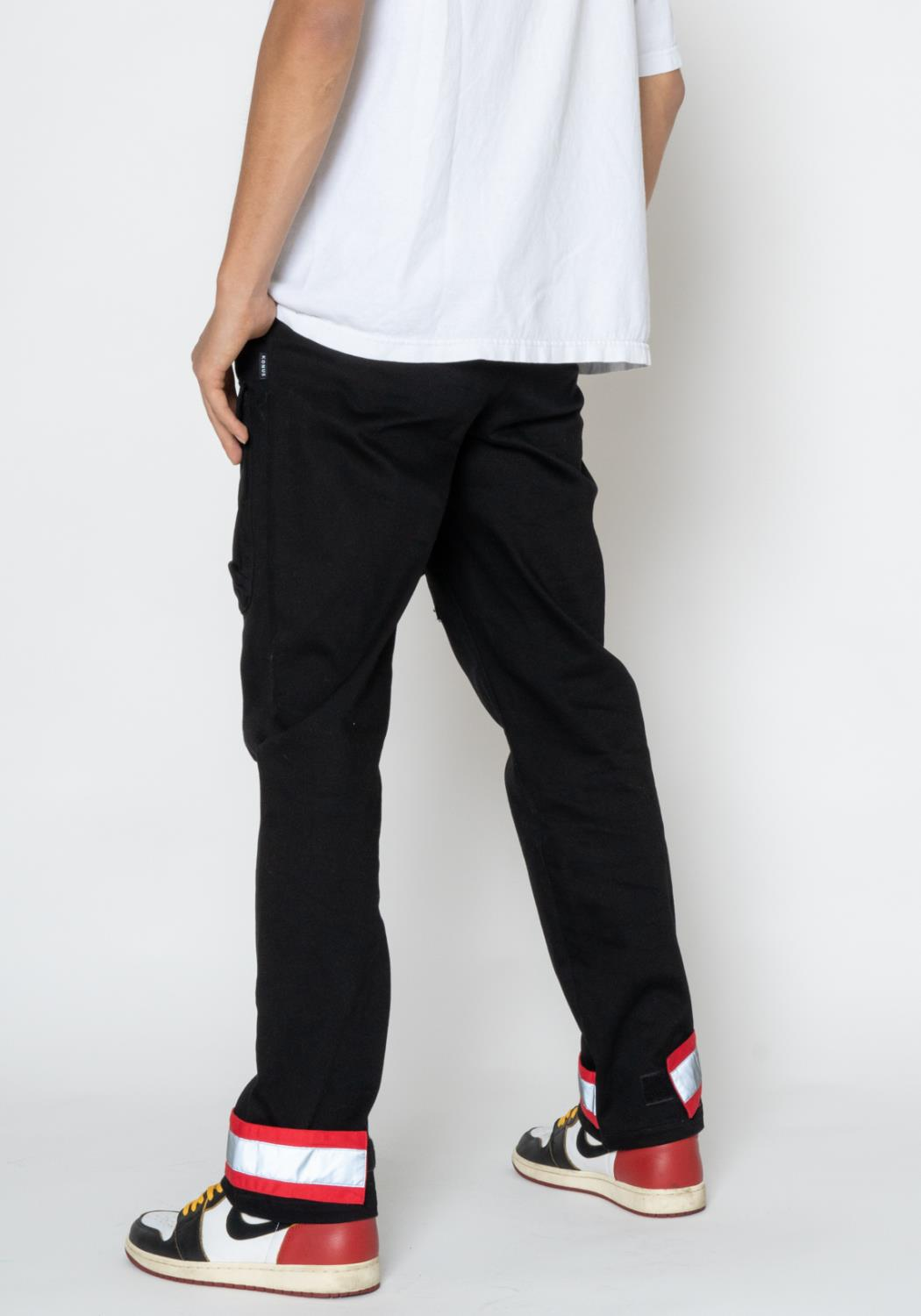 Konus Twill Cargo Pants with Red and Reflective Tape