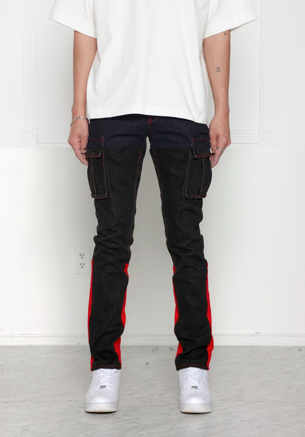 Blank State Mens Denim Cargo Pants