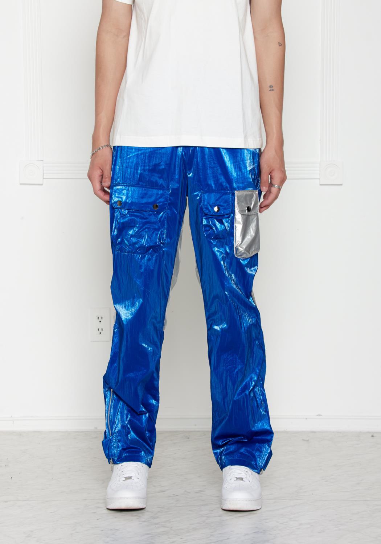 Blank State Mens Skylab Velcro Metallic Pants