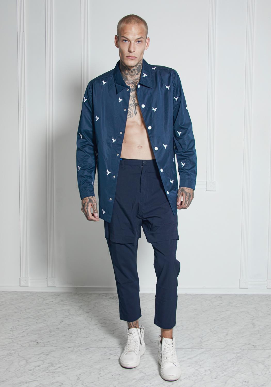 Bird Embroidered Coaches Jacket