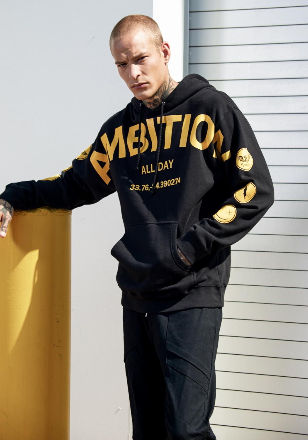 Rowdy Mens AMBITION Graphic Hoodie