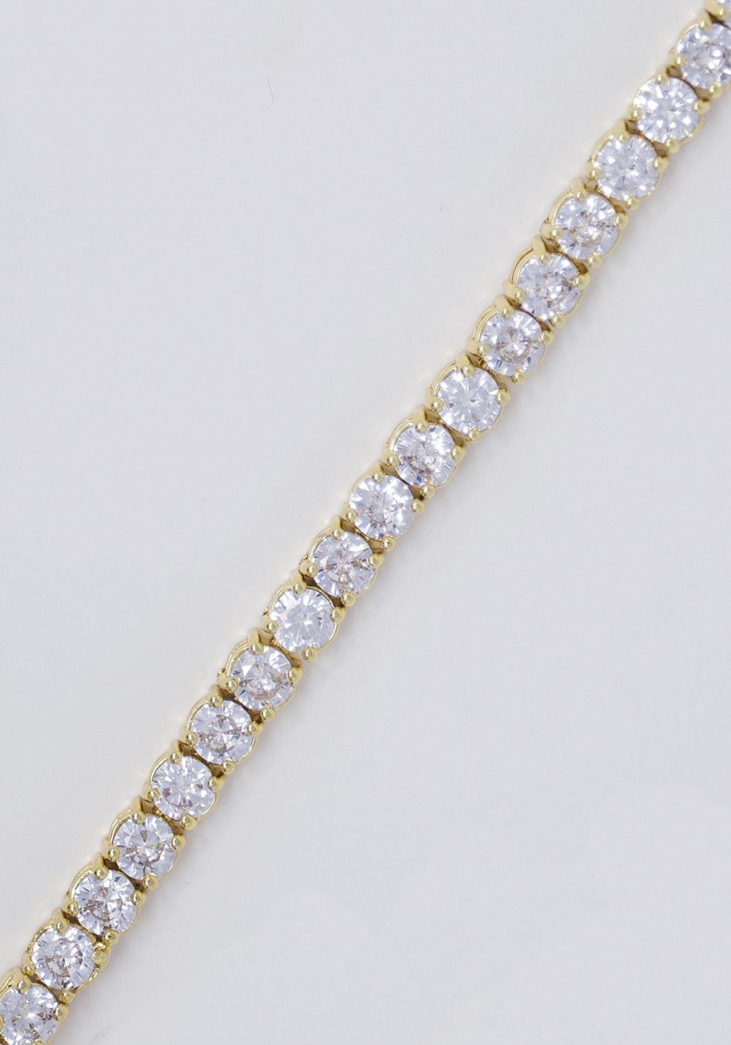 Golden Gilt Tennis Bracelet