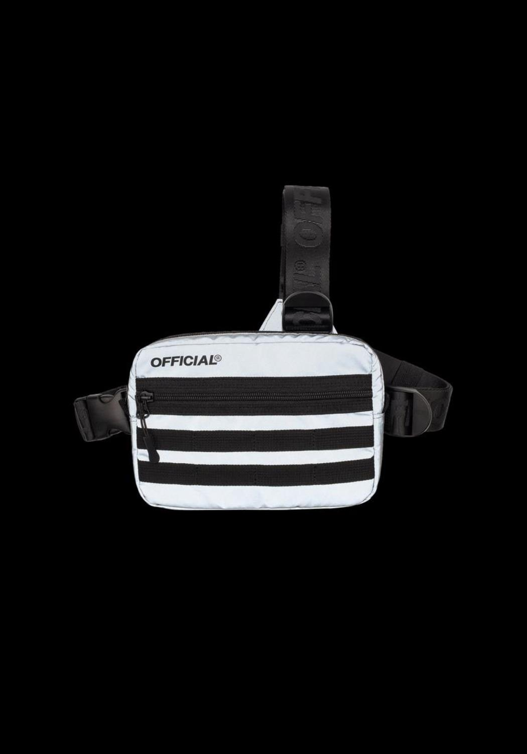 OFFICIAL - RFLCTIV Silver Reflective Tri-Strap Chest Utility Bag