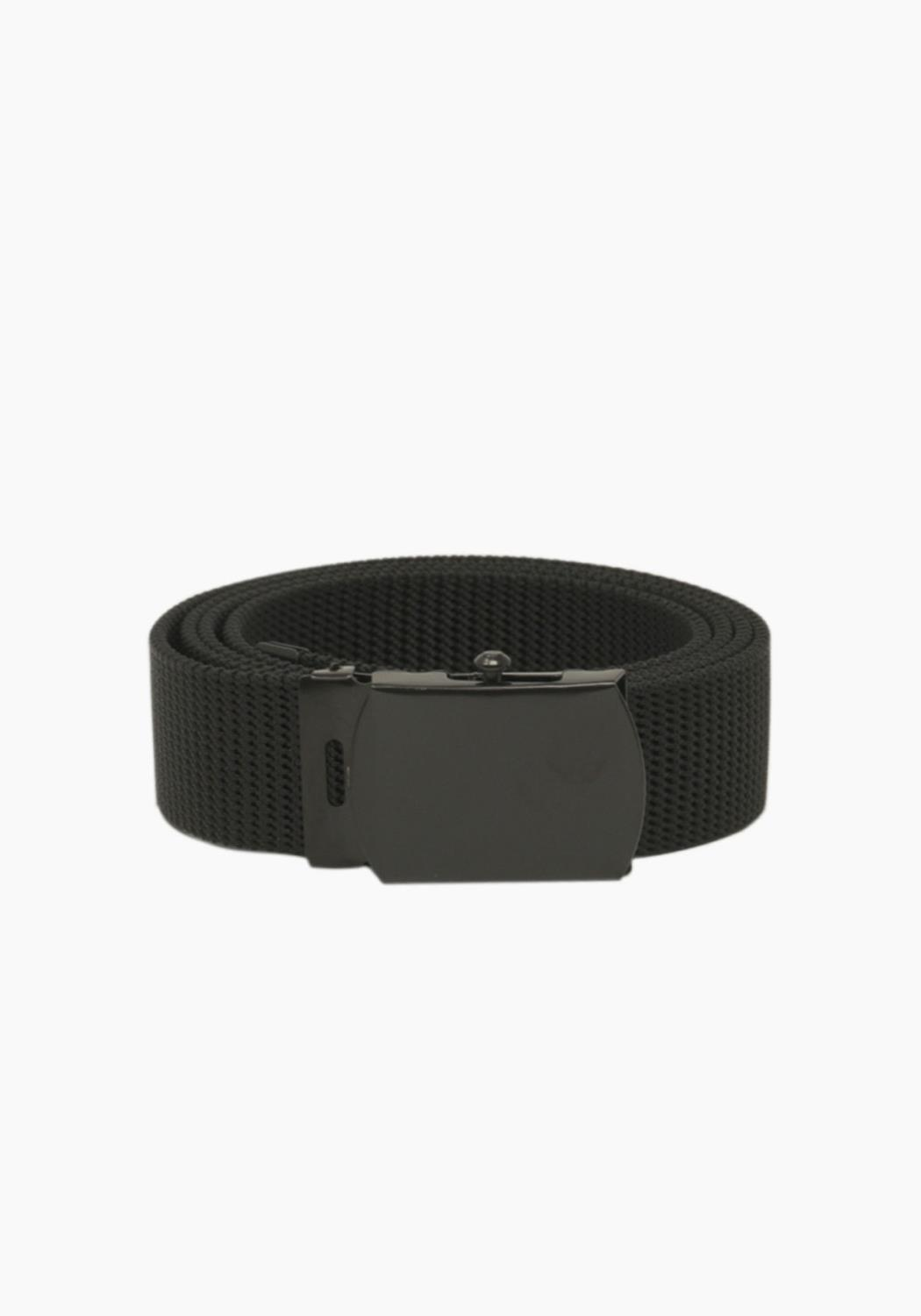 Rothco Nylon Web Belt - Black Webbing