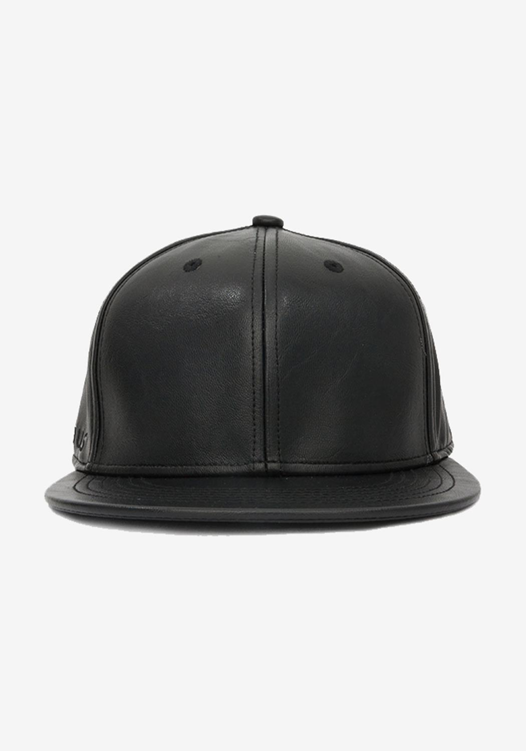 Pleather Snap Back with Multi Color Bird Logo Embroidery