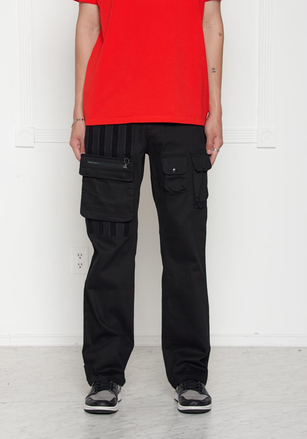 Konus Twill Chino Pants with Removable Cargo Pocket