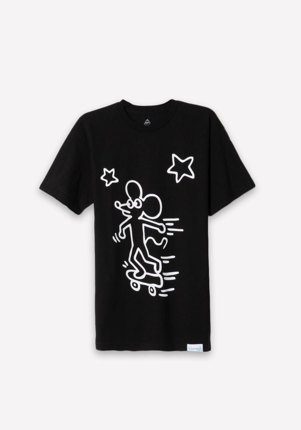 Diamond x Haring Skating Tee in Black