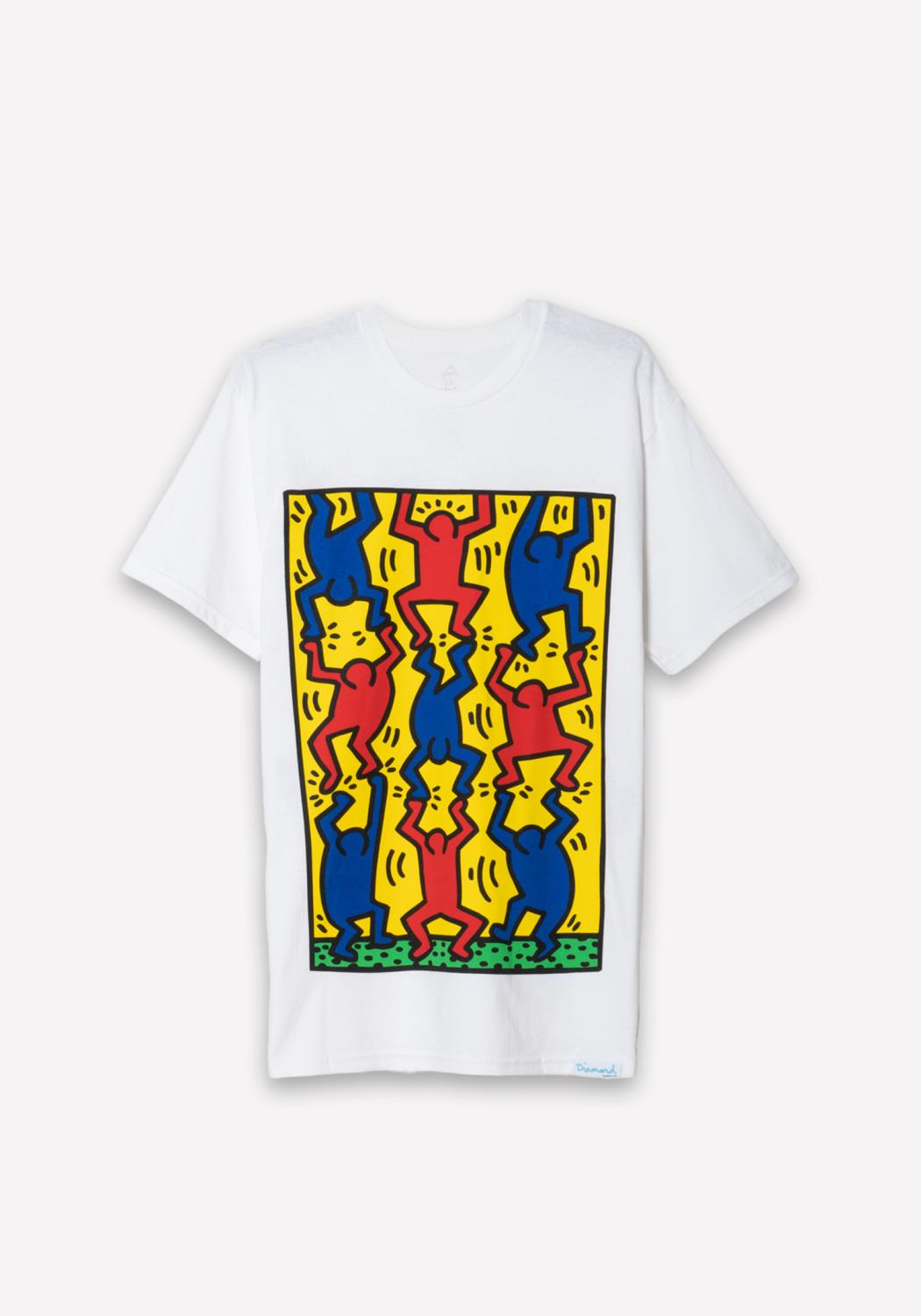 Diamond x Haring Fingers Crossed Tee in White