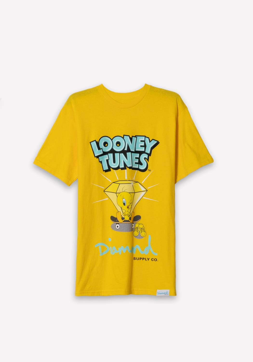 Diamond x Looney Tunes Tweety Skate Tee in Yellow
