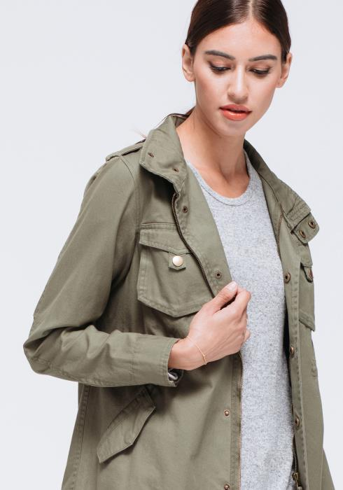 Distressed Military Jacket