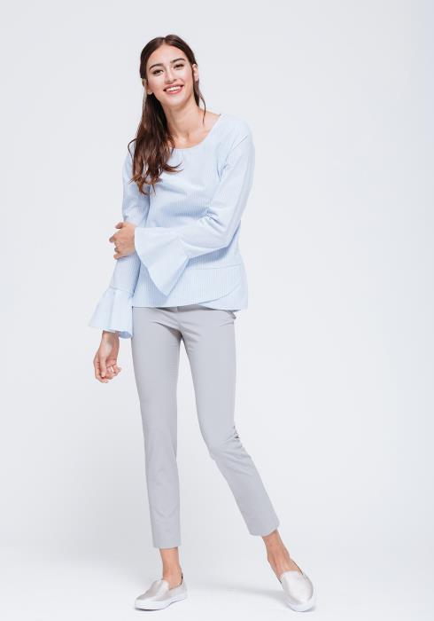 Tied Back Bell Sleeve Top