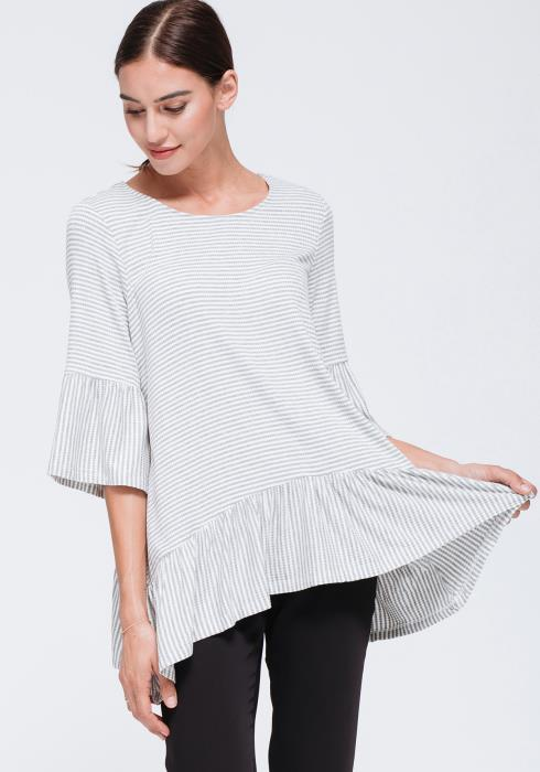 Ruffle Hem Basic Top