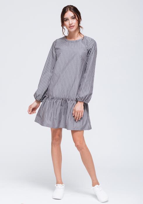 Striped Drop Waist Dress