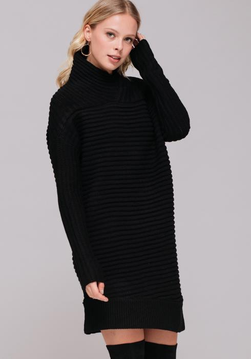 Thick Ribbed Sweater Dress