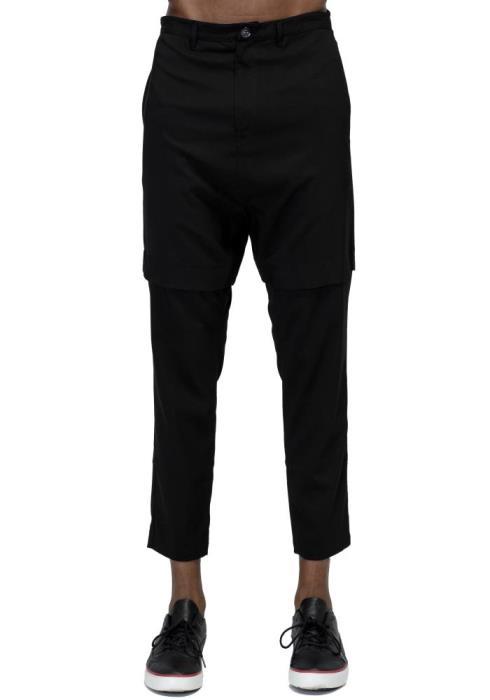 Konus Drop Crotch Tapered Stretch Twill Pants