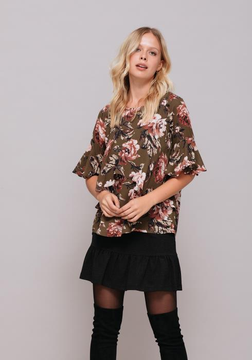 Two Tier Loose Floral Top