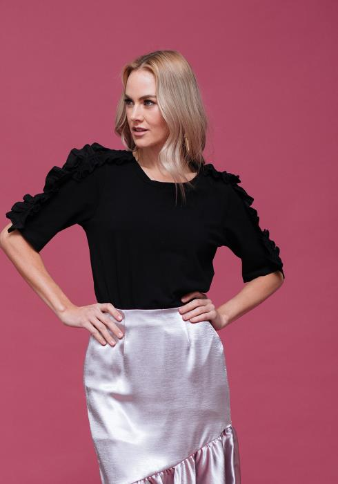 Ruffle Sleeved Top