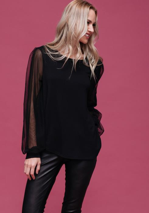 Sheer Long Sleeved Top