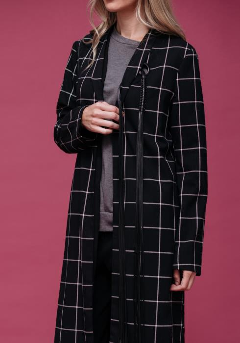 Winter Plaid Tailored Coat