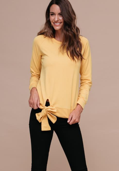 Sweatshirt with Bow Hem