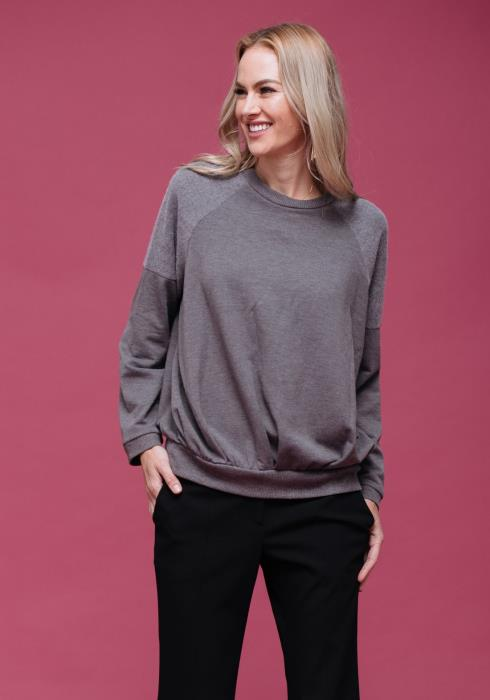 Pleated Two Tone Sweatshirt