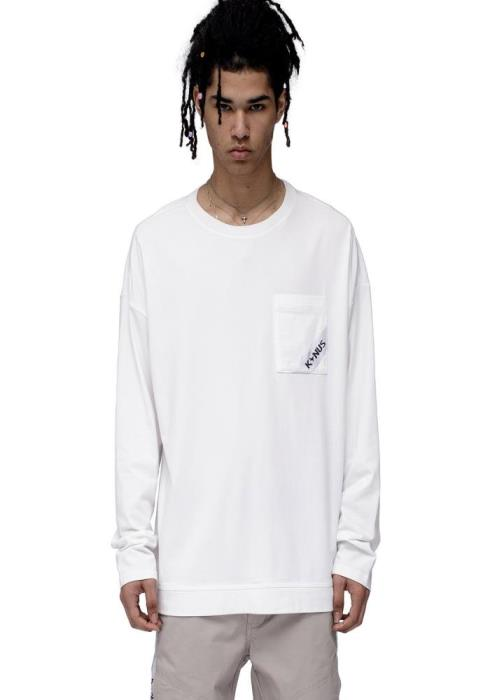 Konus Oversized Long Sleeve T-Shirt with Pocket