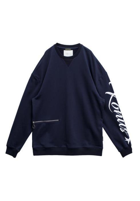 Konus Oversized Sweatshirt with Zipper Pocket