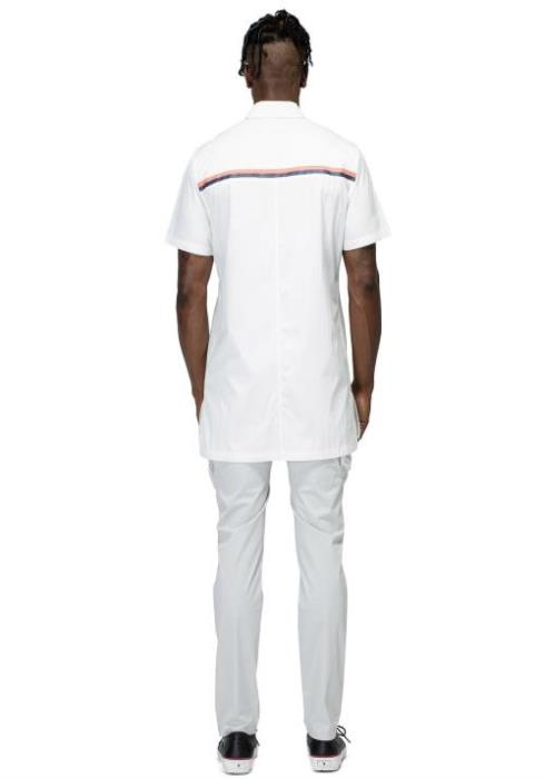 Konus Longline Short Sleeve Zip Up Shirt