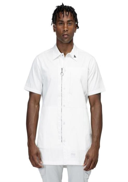 Konus Longline Short Sleeve Zip Up Shirt