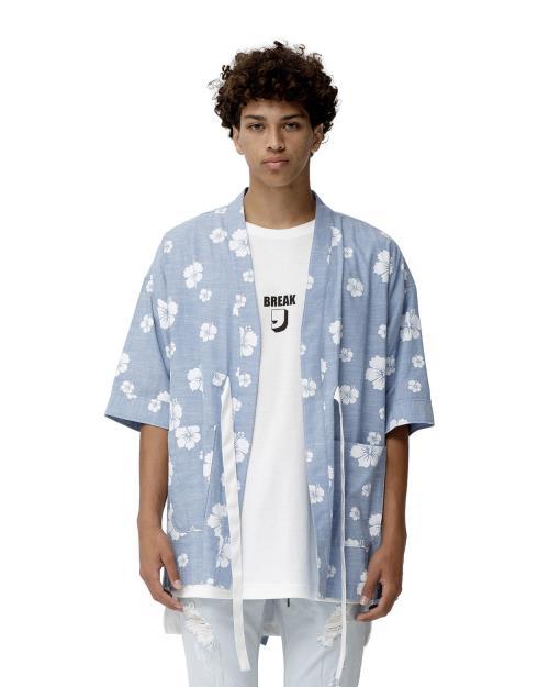 Konus Kimono Shirt with Floral Print