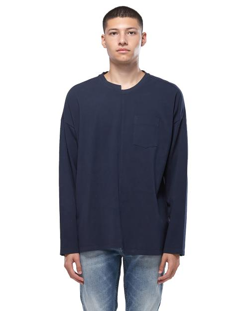 Konus offset Long Sleeve Oversized T-Shirt with Arm Stripe